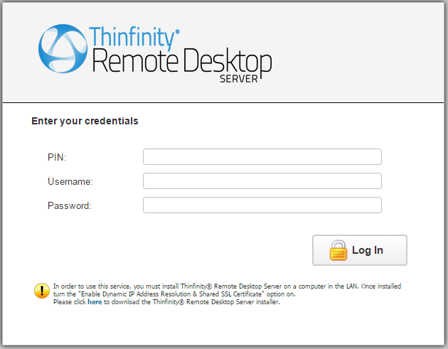 Thinfinity Remote Desktop Server Administrators Guide