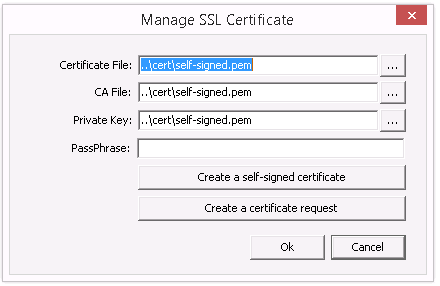 Managing the SSL Certificate