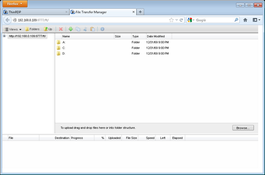 Performing a file transfer
