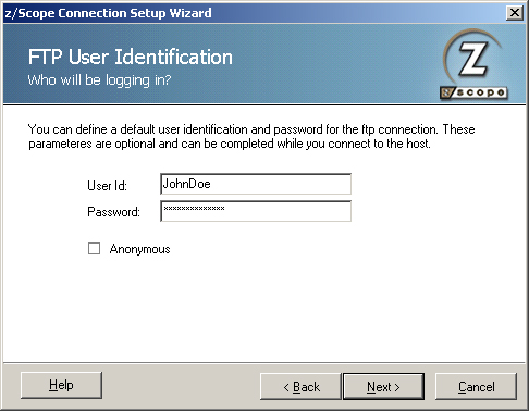 Setting up an FTP Connection