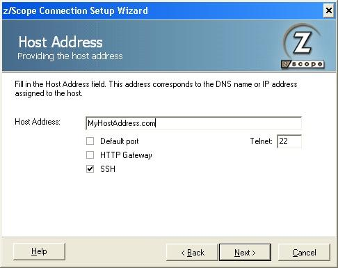 Connection with SSH